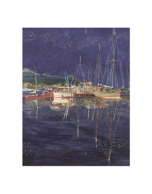 Gig Painting -  Stary Stary Night Marina by Jack Pumphrey