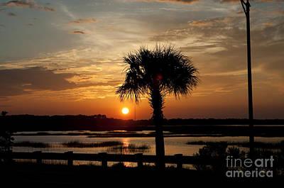 Palmetto Tree Photograph - Port Royal Sunset by Scott Hansen