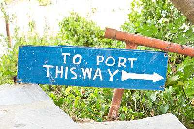 Port Sign Print by Tom Gowanlock