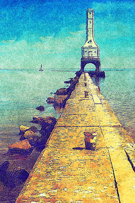 Port Washington Brakewall Print by Jack Zulli