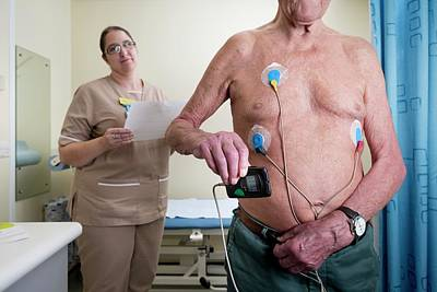 Monitor Photograph - Portable Ecg Monitor Being Fitted by Aberration Films Ltd