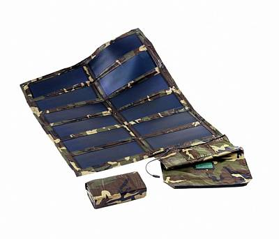 Portable Solar Panels Print by Us Department Of Energy