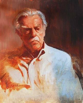 Old Beloeil Painting - Portrait Of An Old Man by Gilles Beloeil