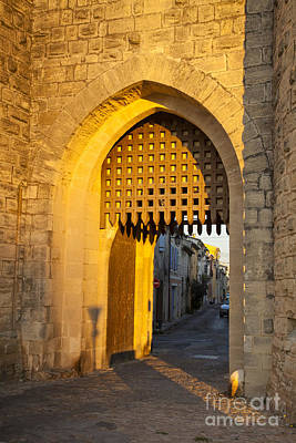Languedoc Photograph - Portcullis Aigues-mortes  Languedoc-roussillon France by Colin and Linda McKie