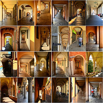 Porticos Of Padua Combined Print by Sabine Jacobs
