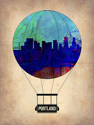 Portland Painting - Portland Air Balloon by Naxart Studio