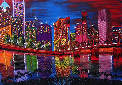 Portland City Light 37 Print by Portland Art Creations