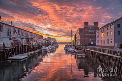 Portland Harbor Sunrise Print by Benjamin Williamson