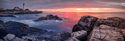 Me Photograph - Portland Head Light And A Cloudy Sunrise by Scott Lynde