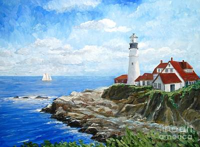 Painting - Portland Head Light by Keith Wilkie