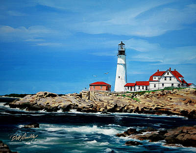 Portland Head Lighthouse Print by Bill Dunkley