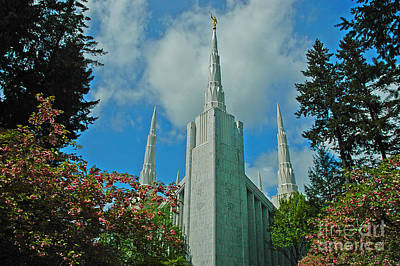 Portland Oregon Lds Temple Print by Nick  Boren