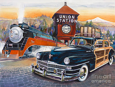 Mike Hill Painting - Portland's Union Station by Mike Hill
