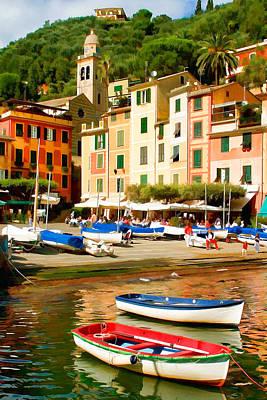 Italian Landscape Mixed Media - Portofino by Cliff Wassmann