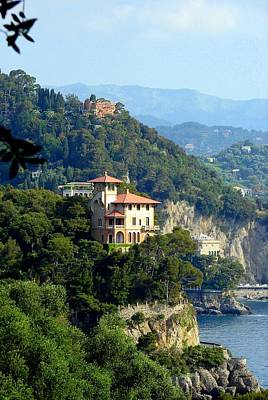 Portofino Coastline Print by Carla Parris