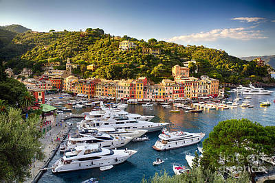 Portofino Summer Afternoon Print by George Oze
