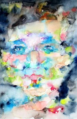 Human Head Painting - Portrait 5 by Fabrizio Cassetta