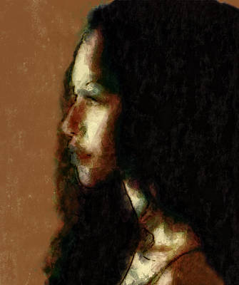 Young Digital Art - Portrait In Sepia Tones  by Jeff  Gettis