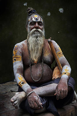 Accomplice Photograph - Portrait O Sadhu IIi by Gilles Lougassi