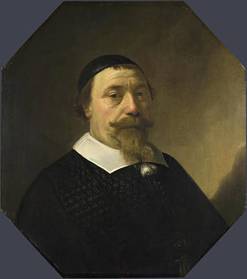 Aelbert Cuyp Painting - Portrait Of A Bearded Man by Aelbert Cuyp