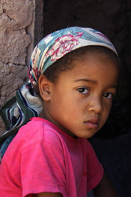 Portrait Of A Berber Girl Print by Ralph A  Ledergerber-Photography