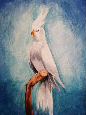 Cockatiel Painting - Portrait Of A Cockatiel 2 by Amber Stanford