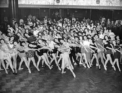 Full-length Portrait Photograph - Portrait Of A Dance Group by Underwood Archives