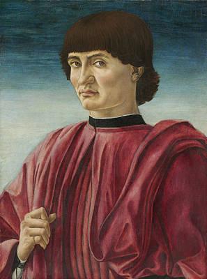 Andrea Del Castagno Painting - Portrait Of A Gentleman by Andrea del Castagno