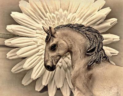 Daisies Digital Art - Portrait Of A Horse by Jeff  Gettis