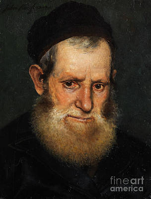 Orthodox Painting - Portrait Of A Jewish Scholars by Celestial Images