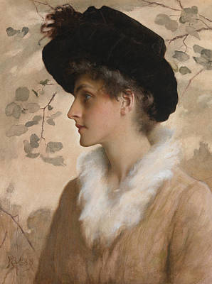 Portrait Of A Lady 1888 Print by George Henry Boughton