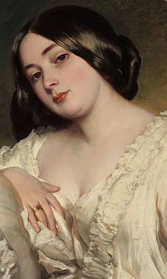 Alluring Painting - Portrait Of A Lady by Franz Xaver Winterhalter