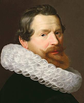 Portrait Of A Man Wearing A Ruff Print by Dutch School