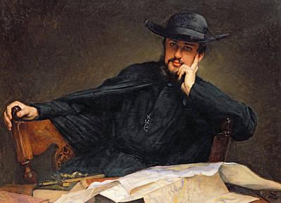 Desk Painting - Portrait Of A Priest by James Jacques Joseph Tissot
