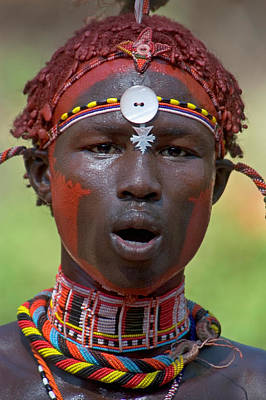 Sweating Photograph - Portrait Of A Samburu Tribal by Panoramic Images