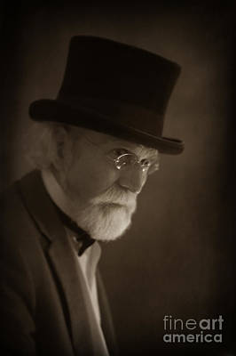Portrait Of A Senior Victorian Or Edwardian Man Print by Lee Avison