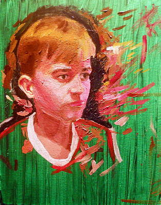 Acryllic Painting - Portrait Of A Sibling by Oliver Pennanen