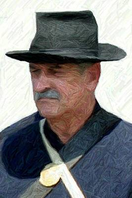 Portrait Of A Union Soldier - Richmond Ky Print by Thia Stover