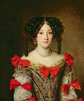 Necklace Painting - Portrait Of A Woman by Jacob Ferdinand Voet