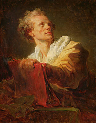 Portrait Of A Young Artist Print by Jean-Honore Fragonard