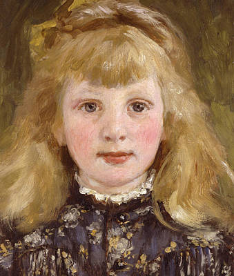 Portrait Of A Young Girl Print by James Charles