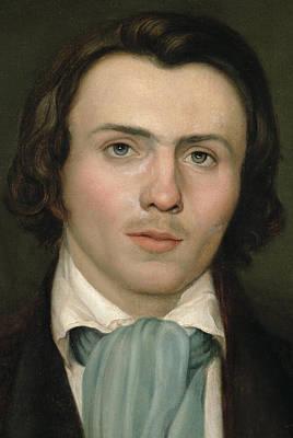Portrait Of A Young Man Print by Rudolph Friedrich Wasmann