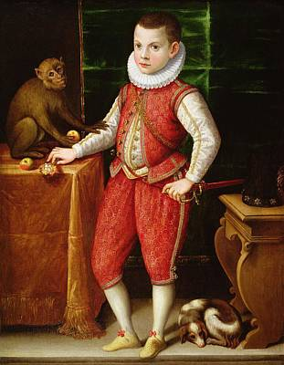 Portrait Of A Young Nobleman Print by Flemish School