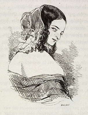 Portrait Of A Young Woman. Print by British Library