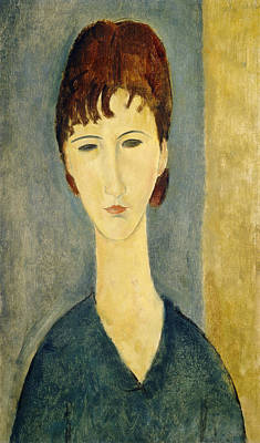 Portrait Of A Young Woman, C.1918 Print by Amedeo Modigliani