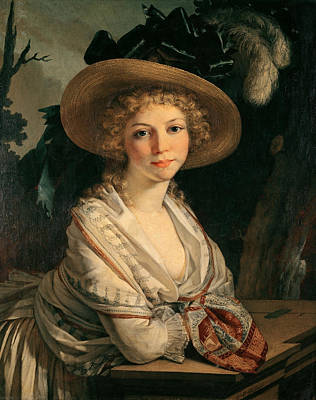 Femme Photograph - Portrait Of A Young Woman Oil On Canvas by Pierre-Paul Prud'hon