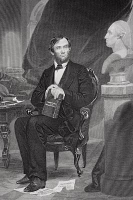 Portrait Of Abraham Lincoln Print by Alonzo Chappel