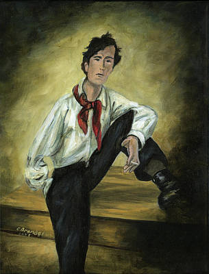 Portrait Of Amedeo Modigliani Print by Cecilia Brendel