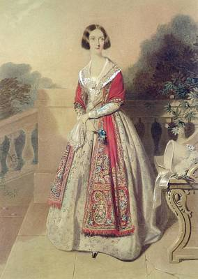 Portrait Of An Unknown Lady  Print by William Buckler
