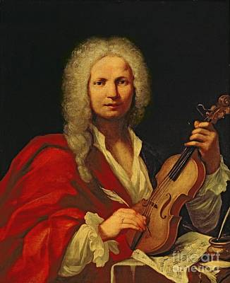 Cloak Painting - Portrait Of Antonio Vivaldi by Italian School